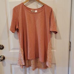 LOGO Lori Goldstein Short Sleeved Shirt